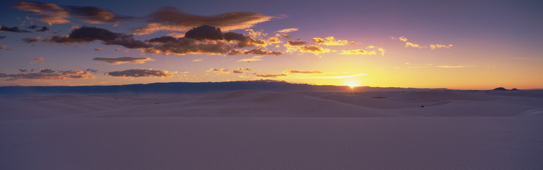 Wall Mural - This is sunrise over White Sands National Monument.