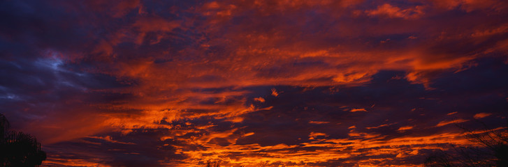 This is a sunset sky over Ventura. Wall mural