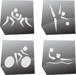 Olympic games icons set, vector