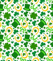 background. St Patrick's day, seamless pattern, vector illustration