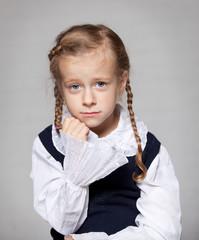 the sad schoolgirl braids