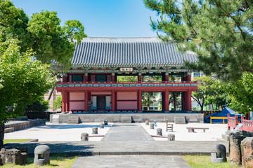Gwandeokjeong, Jeju Island, Korea 韓国 済州島 観徳亭(クァンドクジョン)/ Jeju island is a popular famous tourist place for Chinese and Korean students.