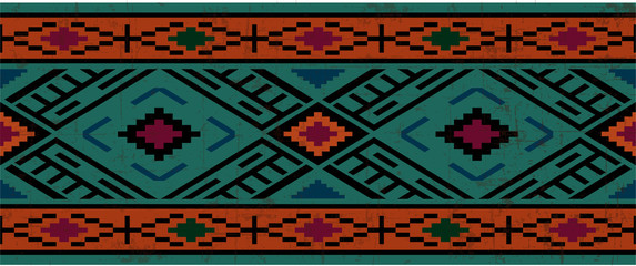 Seamless pattern in native american style, boho ornament