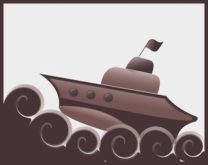 Chocolate ship
