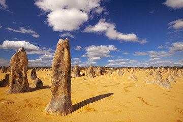 The Pinnacles Desert in Nambung National Park, Western Australia