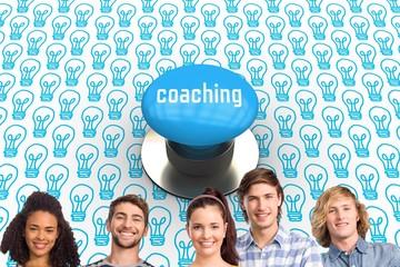 Coaching against blue push button