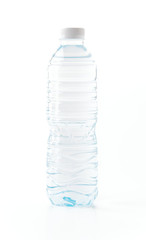 water bottle on white background