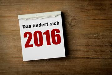 das ändert sich 2016