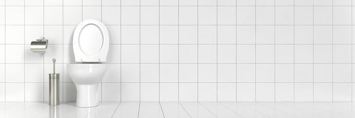 Saubere Toilette im Bad