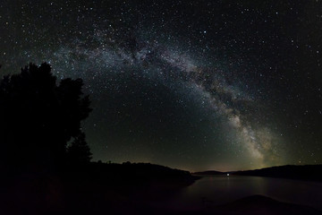 Milky Way at Lake Bicaz in Romania