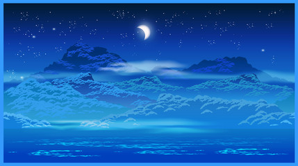 Highlands at night