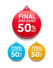 Final Discount 50% Off Round Tag
