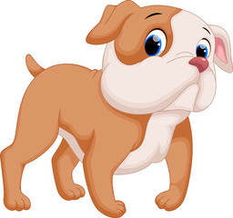Cute baby pit bull cartoon