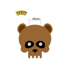 Bear skull mask. Masquerade for Halloween. Vector illustration o
