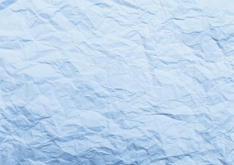 Blue tone Cumpled texture paper background