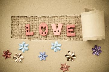 Grunge of love text