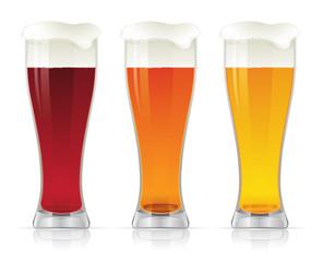 Beer glasses.