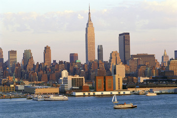 New York City skyline in late afternoon