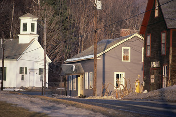 Church and homes, Vermont