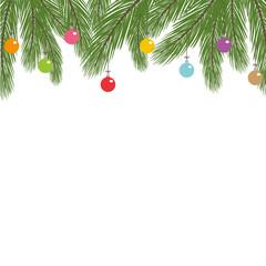 Weihnachtliche Dekoration mit bunten Weihnachtskugeln