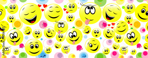 quotcolorful seamless background of smiley faces for web