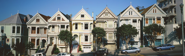 Row of Victorian homes, San Francisco, California