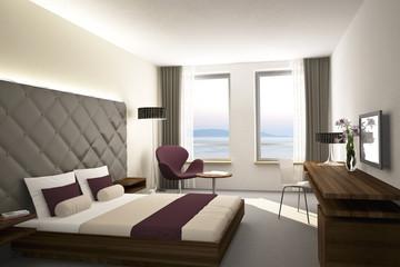 Hotelzimmer Lila