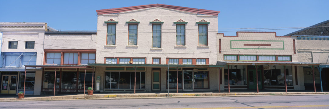 Store fronts, Liano, Texas