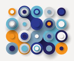 Circles flat background