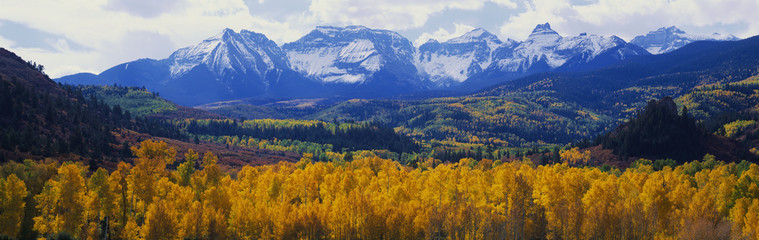 Sneffels Mountain range in autumn