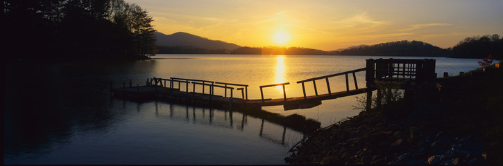 Dock on Lake Chatuge, Georgia
