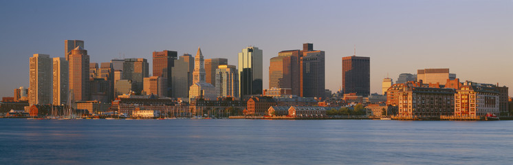 Boston,Massachussets skyline at sunrise