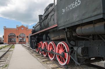 Steam engine locomotive ER type Eh2 builded at Voroshilovgrad