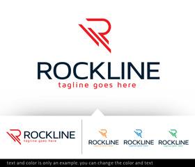Rockline Letter R Logo Template Design Vector