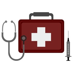 Medical design white background