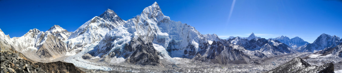 Photo sur Toile Népal Mount Everest panorama