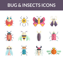 Bugs Flat Icons