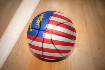 basketball ball with the national flag of malaysia