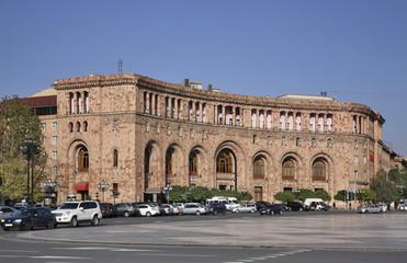 Fotorolgordijn Algerije Republic Square in Yerevan. Armenia