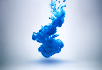 blue ink underwater