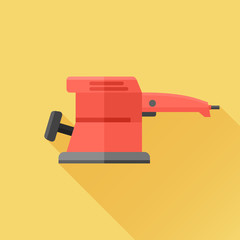 Electric sander flat icon