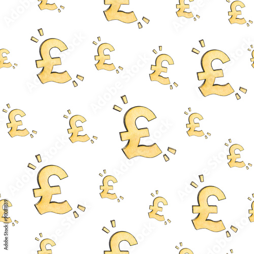 English Pound Sign Icon Money Symbol Gbp Currency Seamless