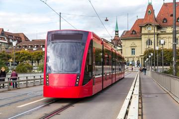 Modern tram in Bern