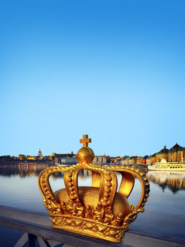 The crown on a bridge in Stockholm, Sweden