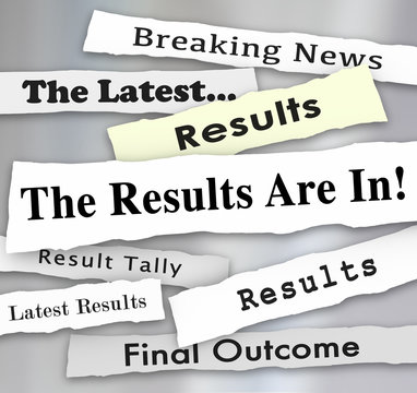 The Results Are In Newspaper Headlines Voting Election Survey Po