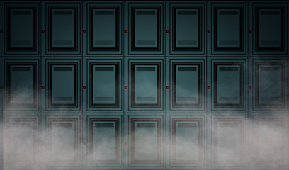 Abstract locker wall background