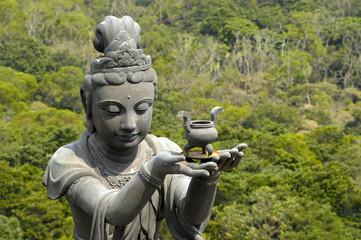 Gift for Buddha at Big Buddha, lantau, hong kong