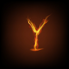 Letter of fire. Vector