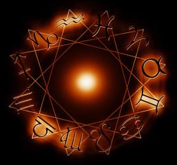 fire zodiac circle
