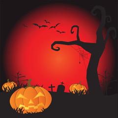 Halloween night background